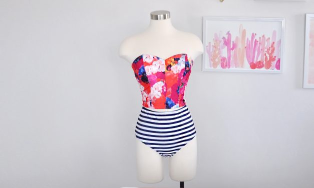 How to make a swimsuit top using your Cricut Maker + Simplicity