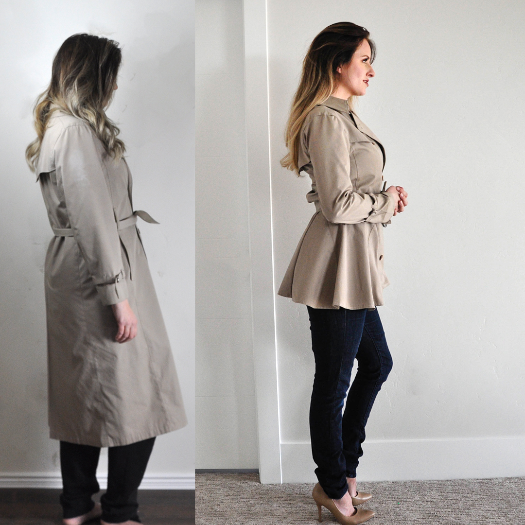 Refashion Series episode 4 Trench Coat Refashion. Love this series!