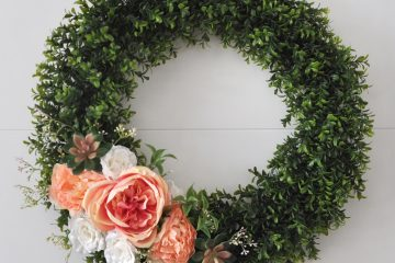 Floral and succulent wreath made with supplies from JOANN. Made in partnership with JOANN. #handmadewithJOANN #ad