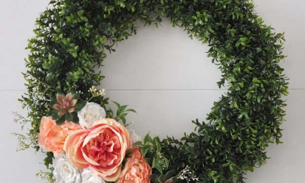 Floral + Succulent Wreath with JOANN