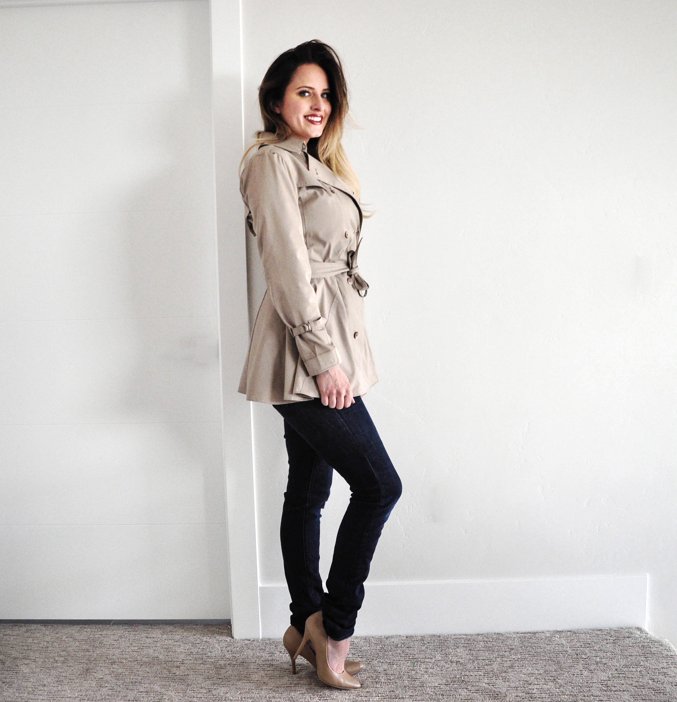 Tailoring a Trench Coat refashion tutorial featured by top US sewing blogger, Kara Metta | Refashion Series episode 4 Trench Coat Refashion. Love this series!