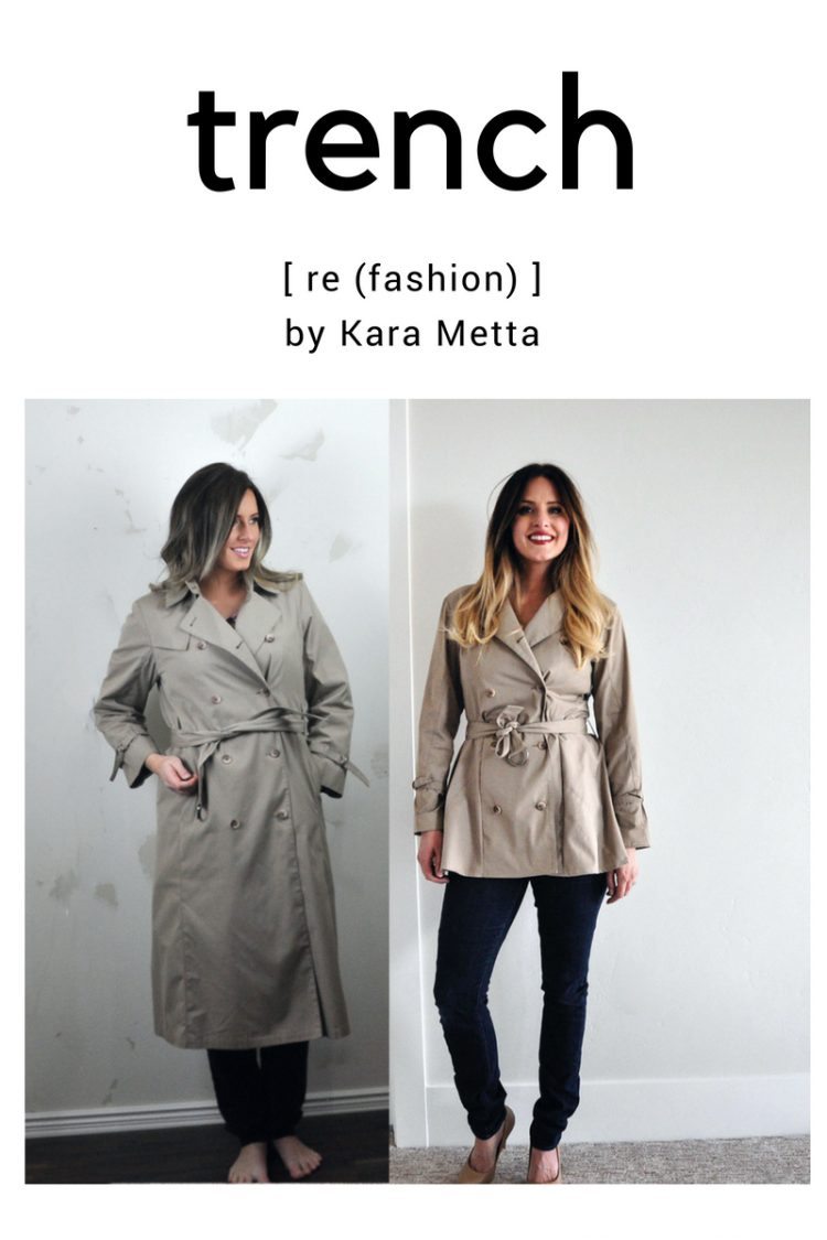 Refashion Series. Look what she did with that trench coat!