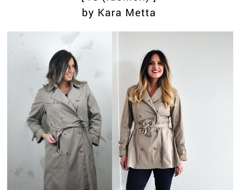 Refashion Series Episode 4:  Tailoring a Trench Coat