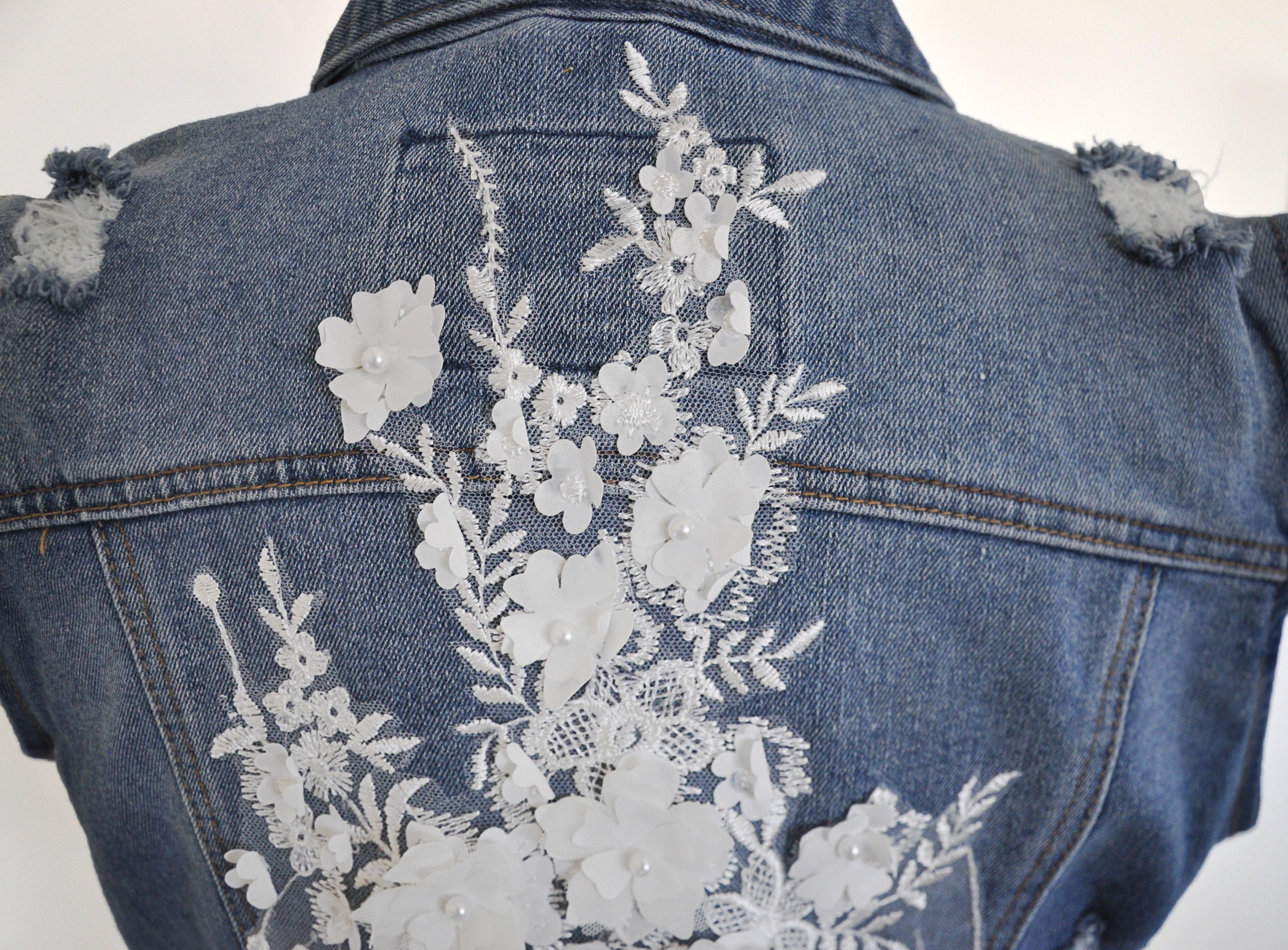 DIY embellished jean vest. #handmadewithjoann