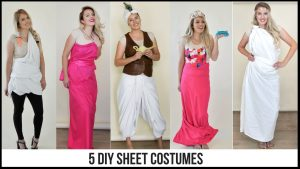 Super easy diy costumes made of sheets! #diycostume #easycostumeideas