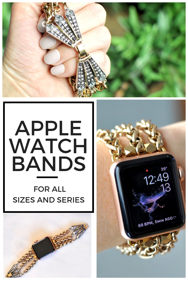 These are fashion apple watch bands?!?! Are you kidding me! How gorgeous are they? I'm so tired of the sporty band my 38mm came with. I need one of these ASAP, and there's a 20% off promo code on this site.