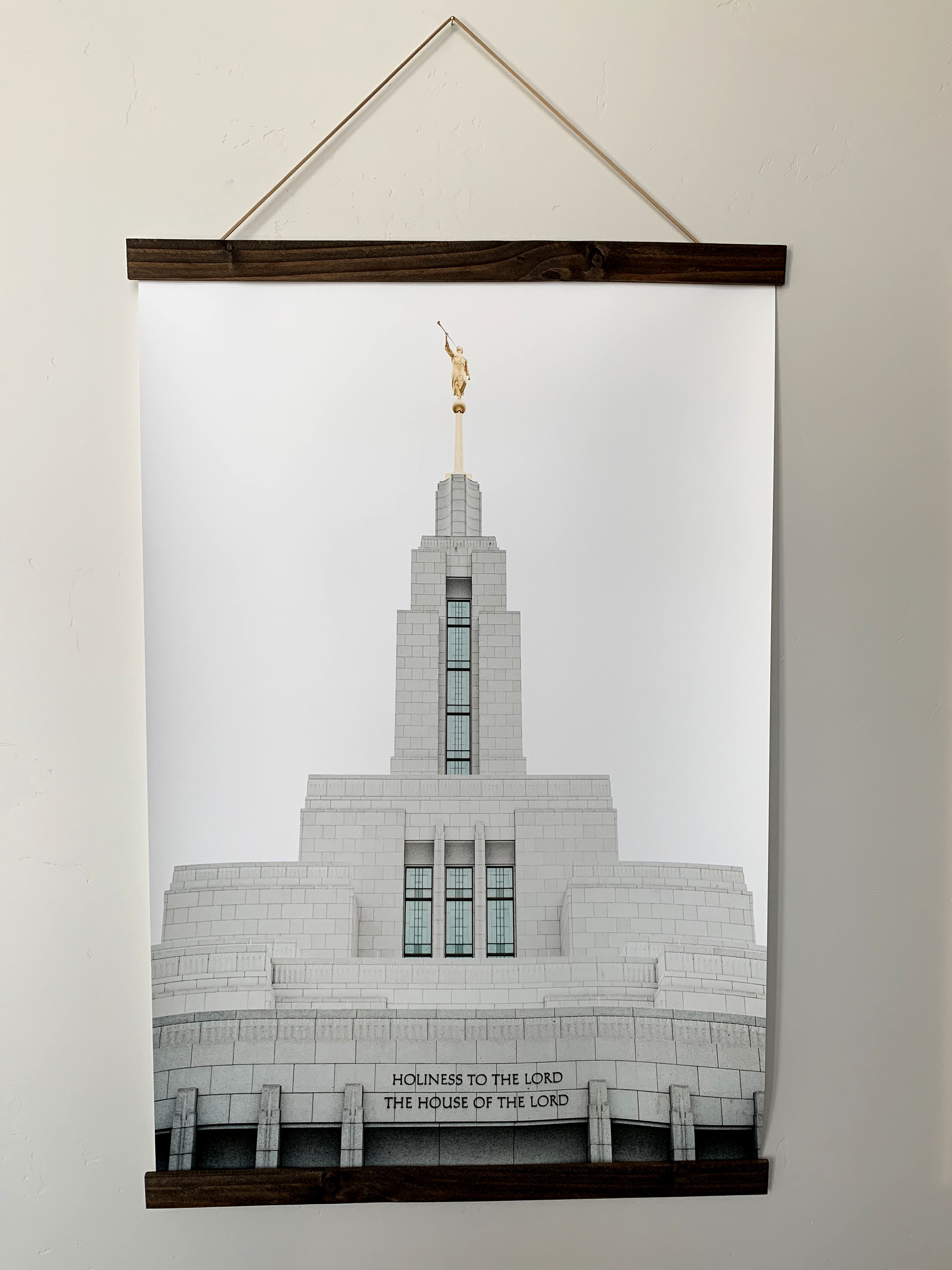 Modern, affordable LDS artwork. There are tons of options for the temple prints. I think I'm in love.