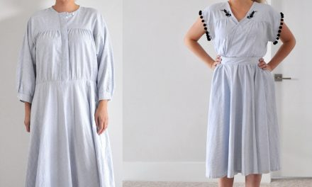 Refashion Series Episode 6 // The Pom Dress