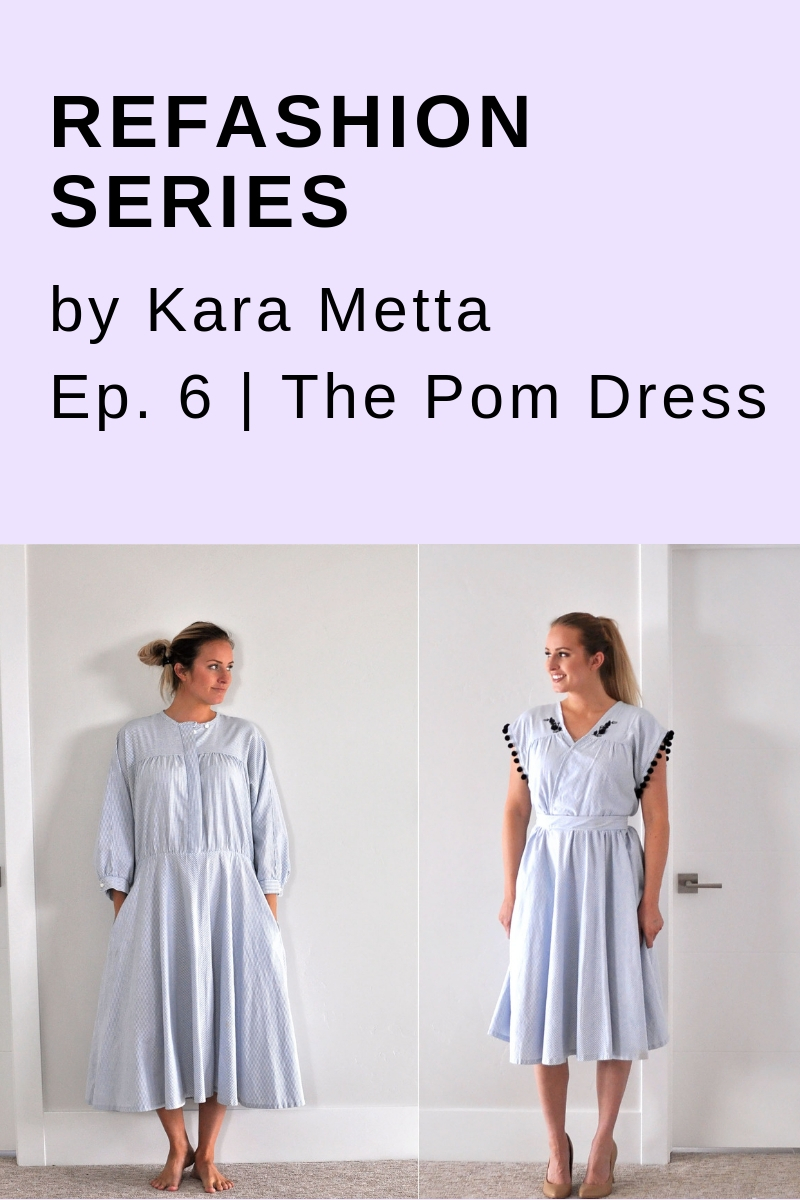 Refashion Series // Kara Metta . Love all her refashion tutorials and videos.
