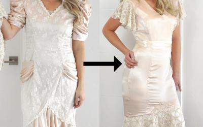 Refashion Series Ep. 8 // 80's Prom Dress Refashion