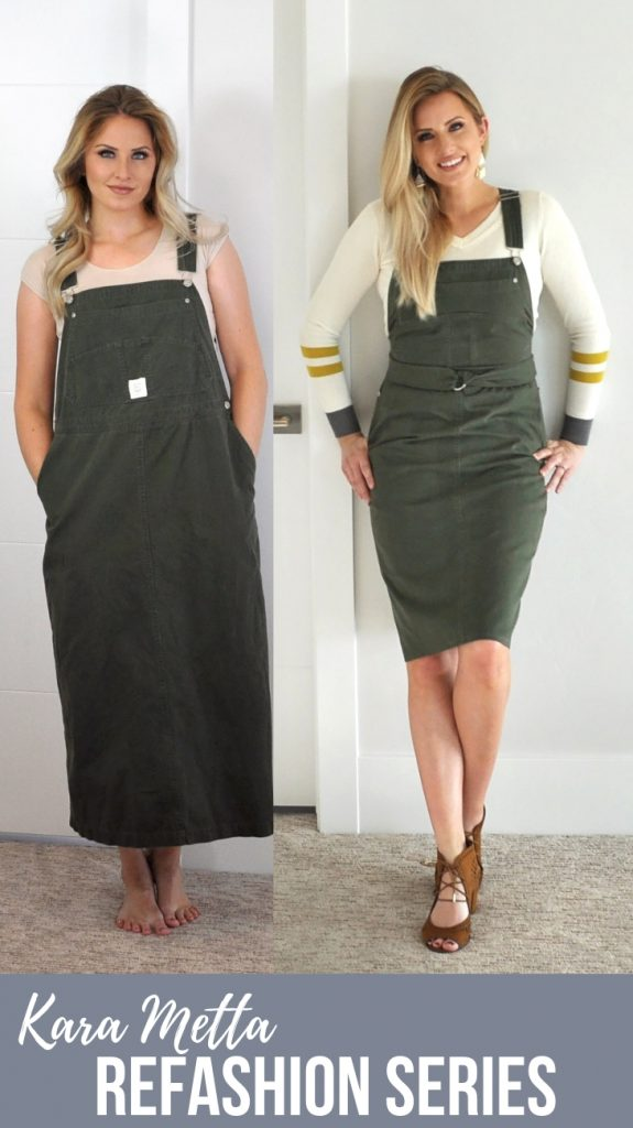 Refashion Series Ep. 10  Love how she updated the overall dress into something I would totally buy!