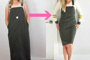 Refashion Series Ep. 10 The overall dress // such an easy refashion but so cute!
