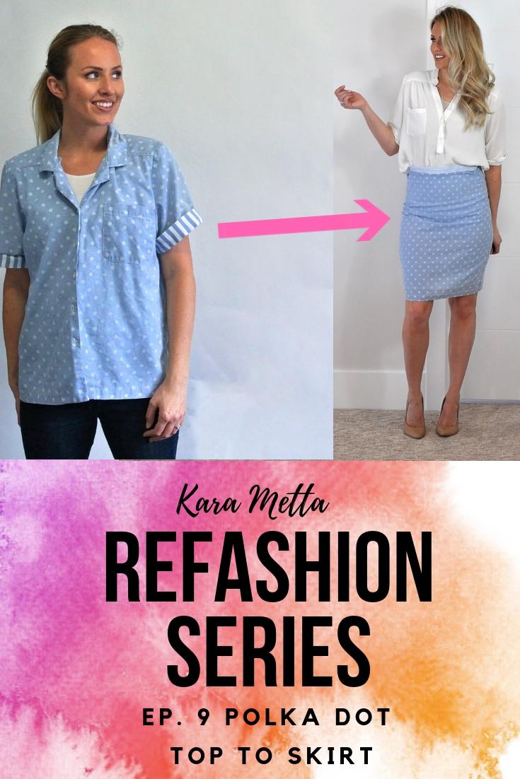 Refashion Series Ep. 9 // top to skirt