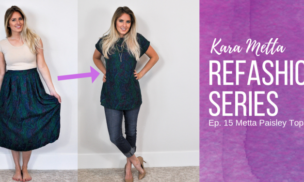 Refashion Series Ep. 15 The Metta Paisley Top