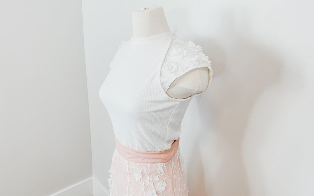 The lace detail is amazing! This is a refashion using gianna fabric from JOANN