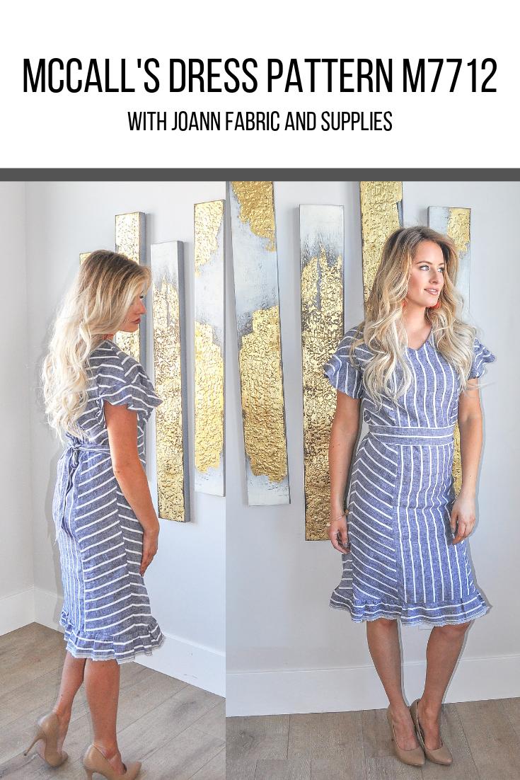 McCall's Dress Pattern 7712. Such a cute and versatile dress!