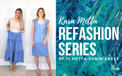 Refashion Series Ep. 13 The Metta Denim Dress