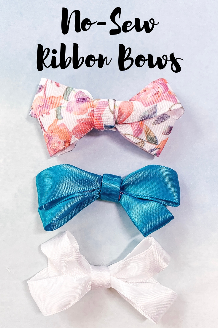 Easy no-sew ribbon bows. Love how fast I can whip these up! #handmadewithJOANN This post was made in partnership with @JOANN