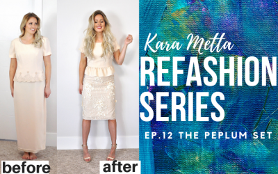 Refashion Series Ep. 12 The Peplum Set