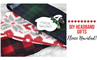 Fleece Navidad–DIY Fleece Headband gifts