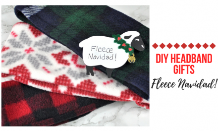 Fleece Navidad–DIY Fleece Headband gifts