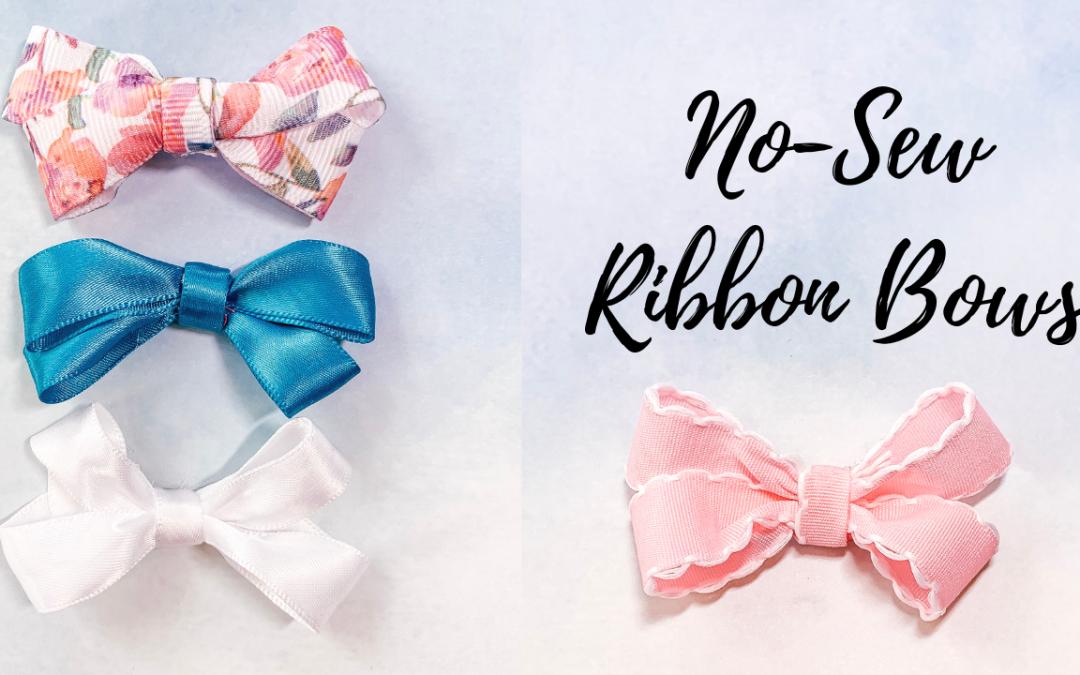 Easy No-Sew Ribbon Bows with JOANN Ribbon
