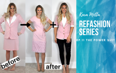 Refashion Series Ep. 11 The Pink Power Suit