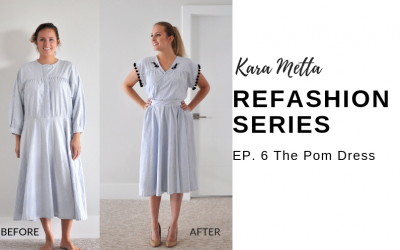 Refashion Series Episode 6 // The Pom Dress