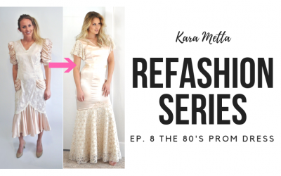 Refashion Series Ep. 8 // 80's Prom Dress Refashion
