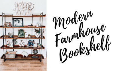 Large Modern Farmhouse Bookshelf