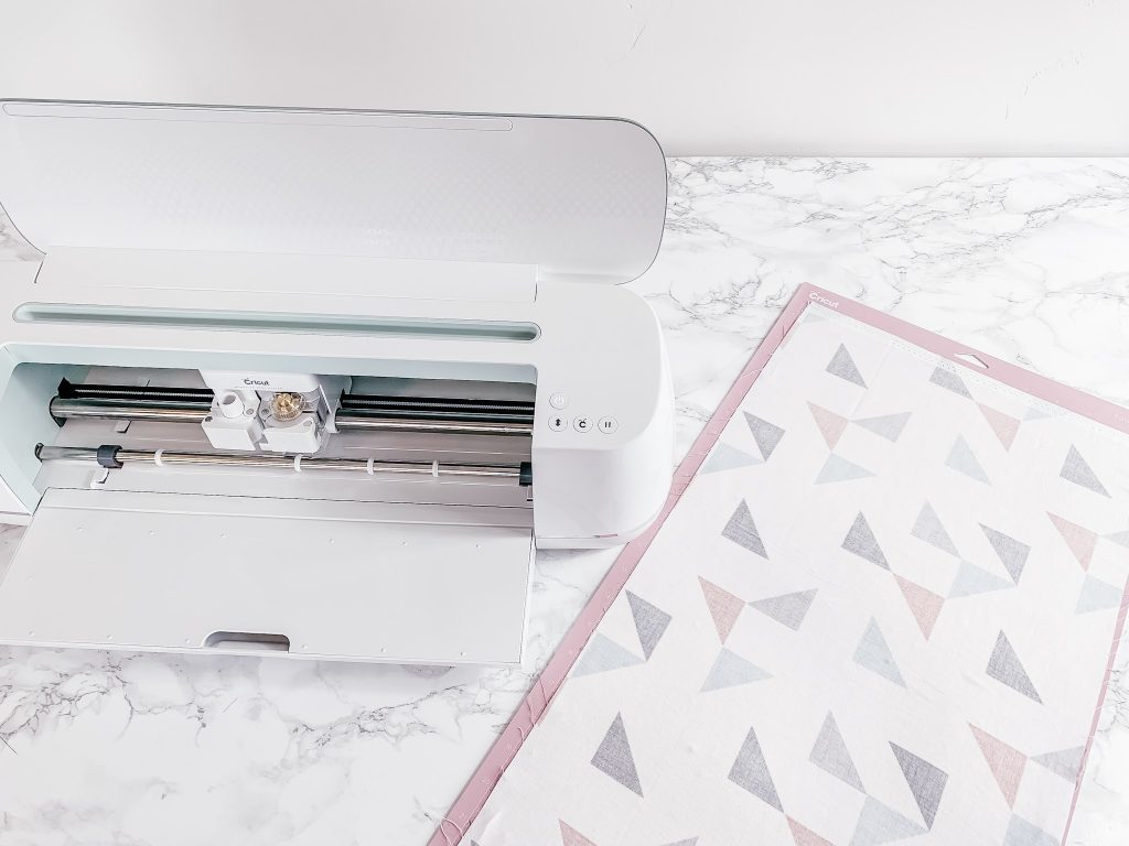 Easy diy fabric headbands using the new Mint Cricut Maker. It's so cool that it can cut your pattern pieces for you!