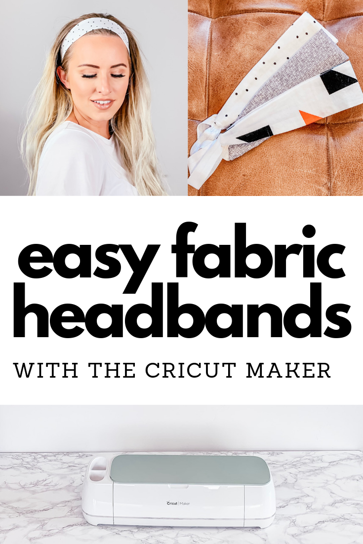 Easy diy cricut maker headbands using the new Mint Cricut Maker. It's so cool that it can cut your pattern pieces for you!
