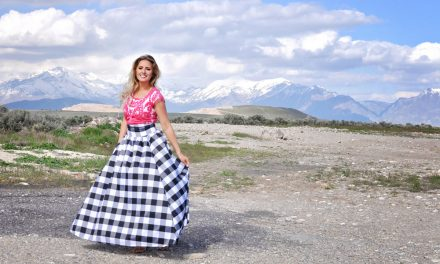 Tips for Sewing with Taffeta // Large Gingham Maxi Skirt Simplicity 8328