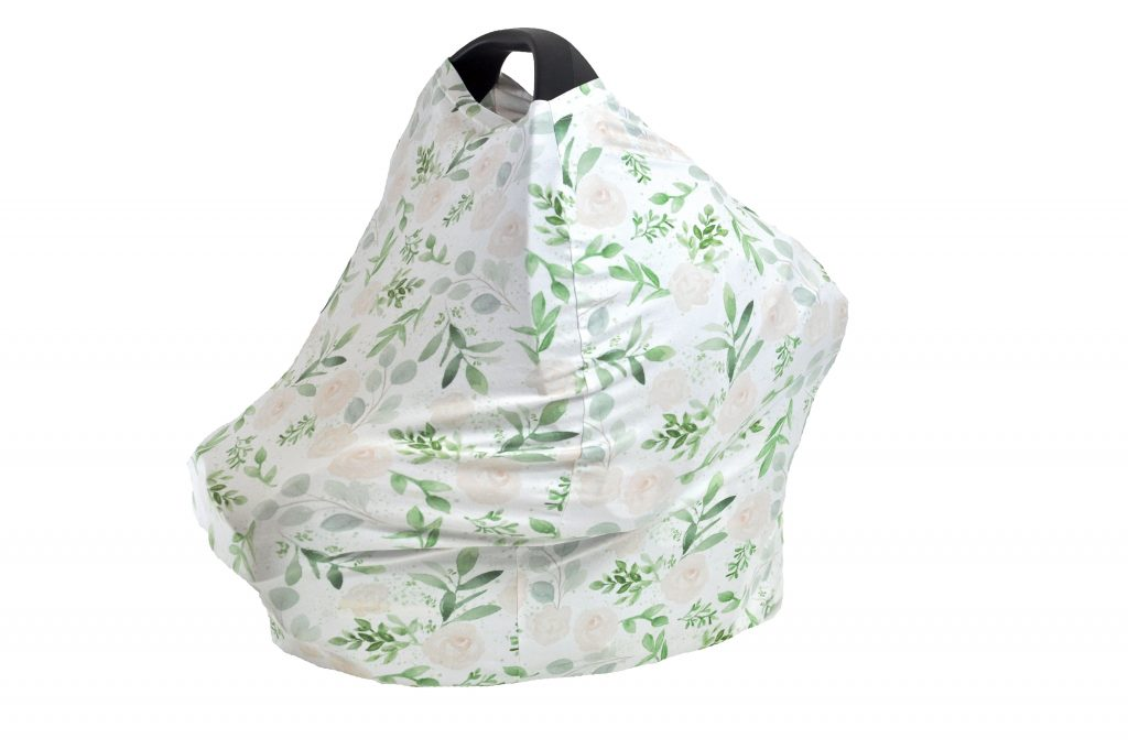 Soft, extra long, nursing cover that doubles as a carseat cover, blanket, and shopping cart cover. Love how gender neutral this print is. It's only $18 on Amazon.