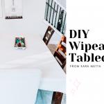 DIY Wipeable Tablecloth