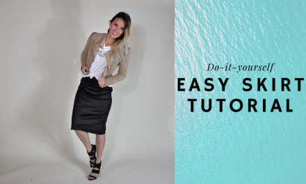 Easy DIY Knit Skirt Tutorial