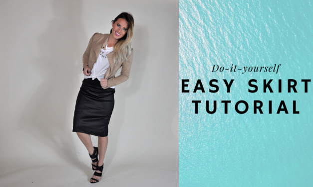 Easy DIY Knit Skirt Tutorial
