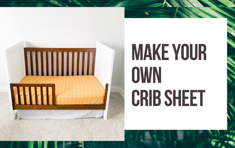 How to Make a Crib Sheet Tutorial // Sew a crib sheet