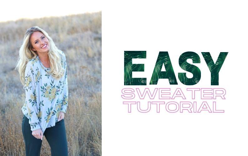 DIY Sweater Tutorial